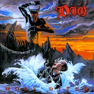 Dio--Holy Diver.  Charming, isn't it?