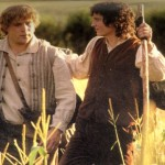 Sam and Frodo leave The Shire.