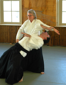 Mary Heiny Sensei demonstrating kokyu ho throw