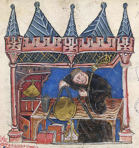 Richard of Wallingford, Abbot of St. Albans.  14th century.  Too bad he didn't have Internet access!