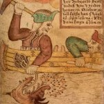 Thor catching Jormungand~18th century Icelandic manuscript